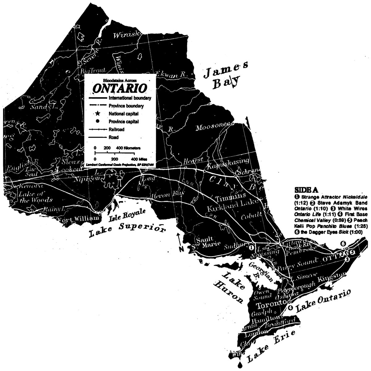 cover of Bloodstains Across Ontario
