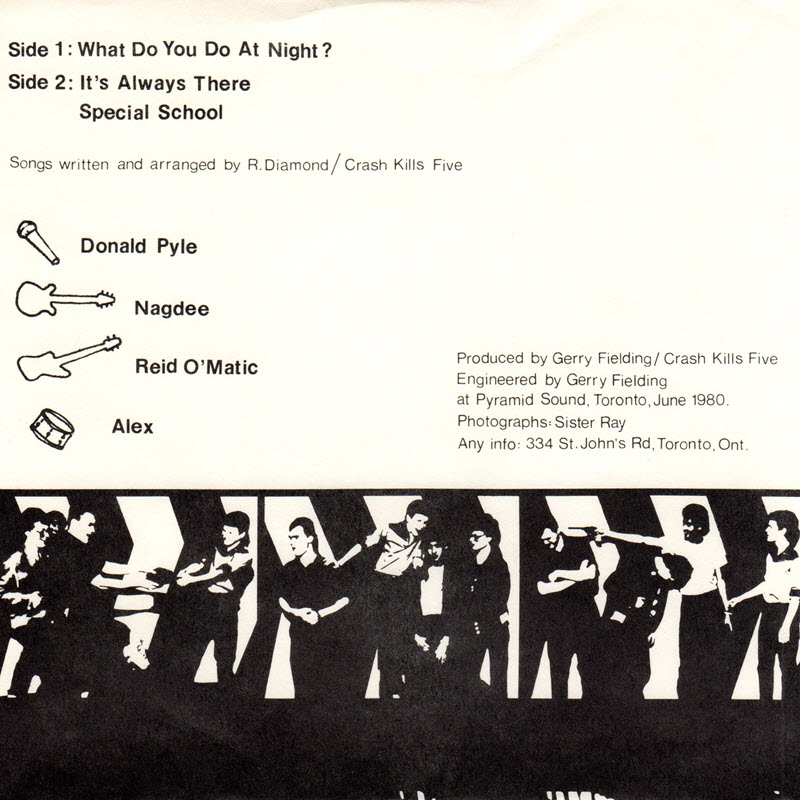 rear cover of the Crash Kills Five single