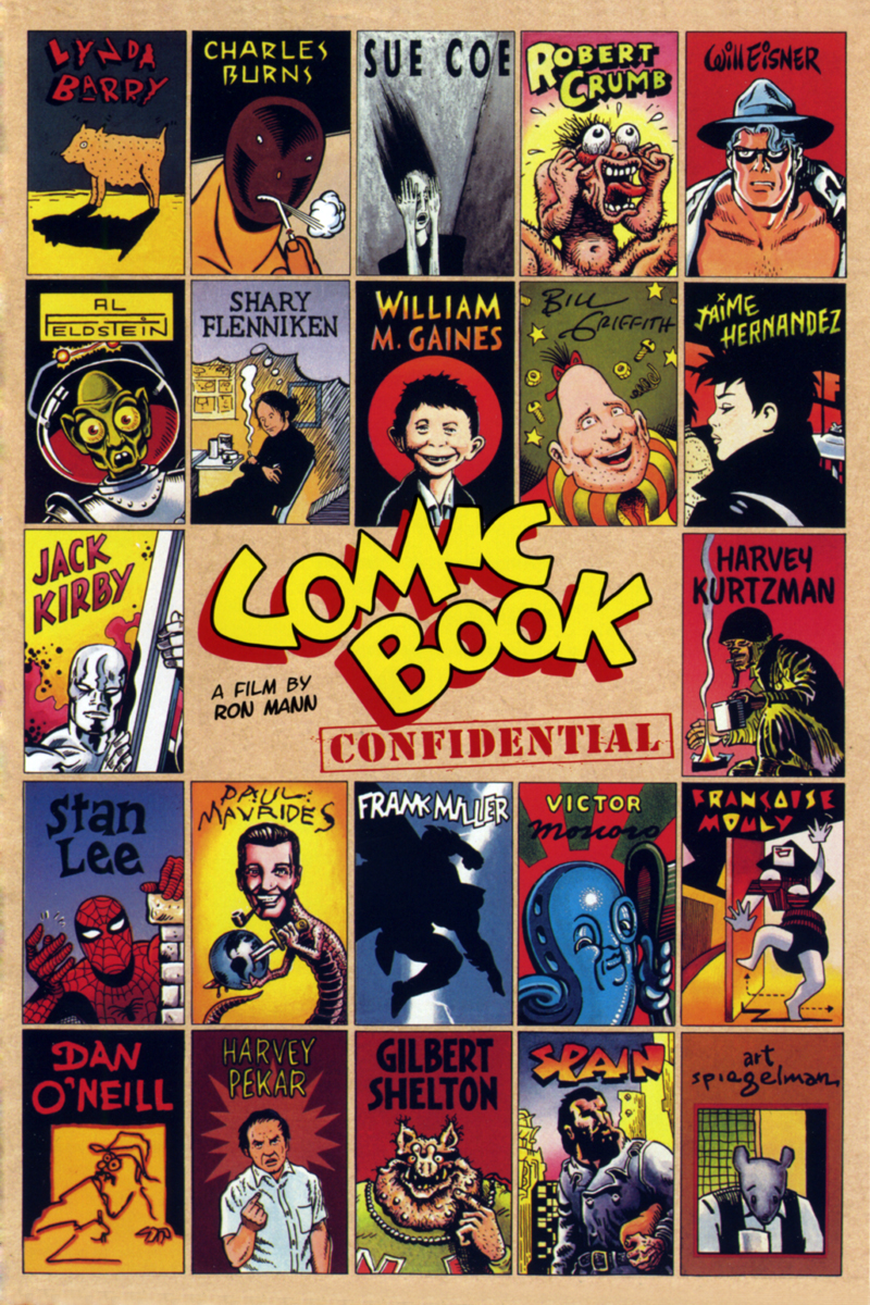 a different cover of the Comic Book Confidential video
