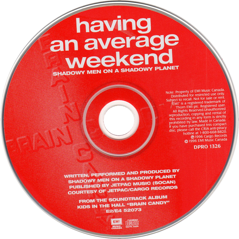 Having An Average Weekend promo single
