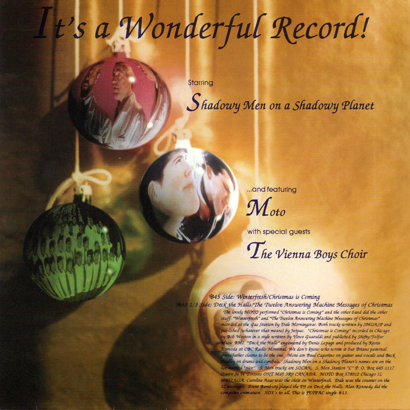 rear cover of It's A Wonderful Record